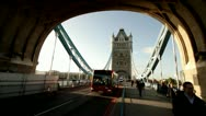 London Tower Bridge wide angle.09 Stock Footage