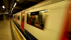 Stock Video Footage of London Underground departing train