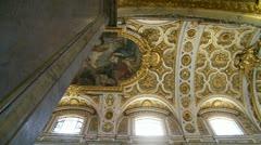 San Luigi dei Francesi ceiling (2), Rome Stock Footage