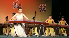 Young Beautiful Asian Women Play Music 01 Stock Footage