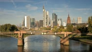 Stock Video Footage of Germany, Frankfurt, T/L river