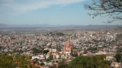 San miguel de allende overview mexico Stock Footage