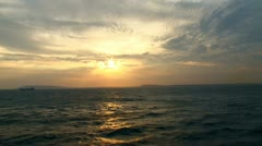 English Channel Sunset Stock Footage