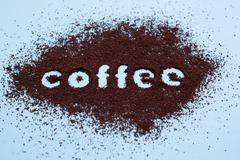 Stock Photo of ground coffee