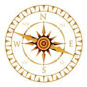 compass rose - stock illustration