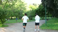 Jogging in the park Stock Footage