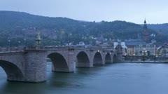 Germany, Heidelberg, T/L bridge Stock Footage