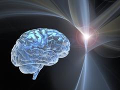Brain research, conceptual artwork Stock Illustration