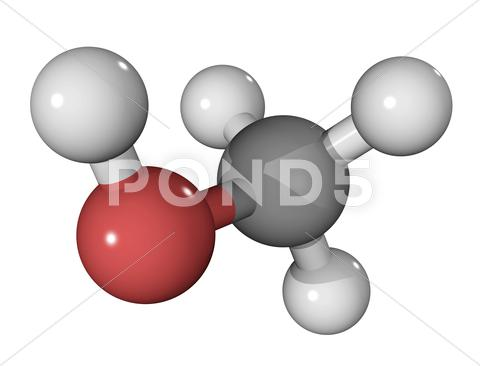 Stock Illustration of methanol alcohol molecule