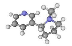 Nicotine drug molecule Stock Illustration
