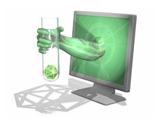 computer virus, conceptual artwork - stock illustration