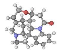 Strychnine drug molecule Stock Illustration