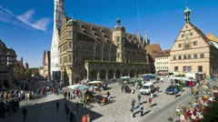Germany, Rothenburg, T/L square Stock Footage