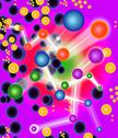 Stock Illustration of subatomic particles, artwork