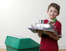 Recyclable household waste Stock Photos