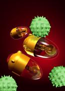 Stock Illustration of medical nanorobots, artwork