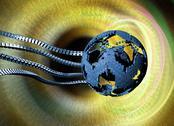 Global network, conceptual artwork Stock Illustration