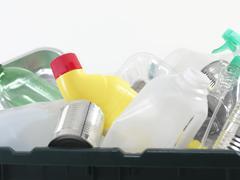 Household recycling box Stock Photos
