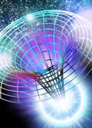 wormhole, conceptual artwork - stock illustration