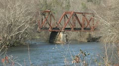 OLD TRESTLE ACROSS RIVER 2 Stock Footage