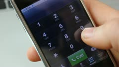 Dialing number on smart phone - stock footage