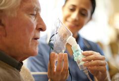 Stock Photo of nebuliser use