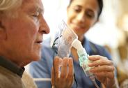 Stock Photo of nebuliser use