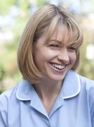 nurse smiling - stock photo