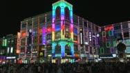 Busy shopping street by night, Shangxiajiu Pedestrian Street, Guangzhou, China Stock Footage