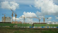 Stock Video Footage of City Construction Timelapse With Clouds