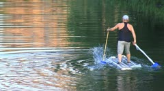 Walking on water Stock Footage