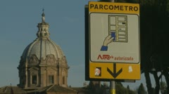 Parking ticket machine in Rome Stock Footage