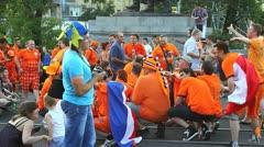 Dutch fans singing Stock Footage