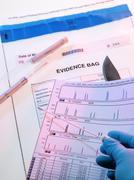 Forensic evidence Stock Photos