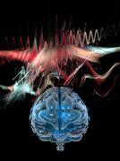 Brain wave, conceptual artwork Stock Illustration