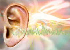 tinnitus, conceptual artwork - stock illustration