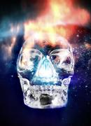 Crystal skull, artwork Stock Illustration