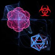 virus research, conceptual artwork - stock illustration