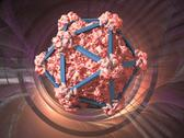 Stock Illustration of virus structure, conceptual artwork