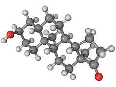 Androsterone hormone molecule Stock Illustration