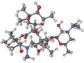 Azithromycin antibiotic molecule Stock Illustration