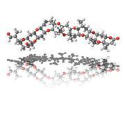 Brevetoxin molecule Stock Illustration