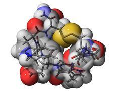 cone snail venom component molecule - stock illustration
