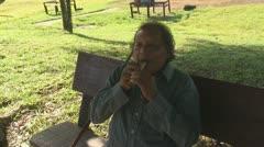 Suriname, Man blows his whistle Stock Footage