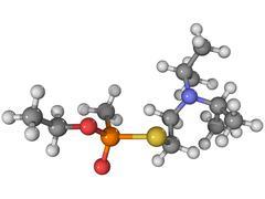 Vx nerve agent molecule Stock Illustration
