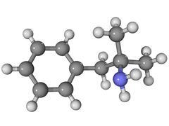 Phentermine appetite suppressant molecule Stock Illustration
