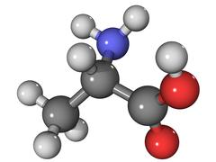 Alanine amino acid molecule Stock Illustration