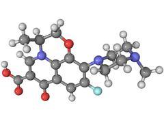 Stock Illustration of levofloxacin antibiotic molecule