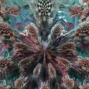 mandelbulb fractal - stock illustration