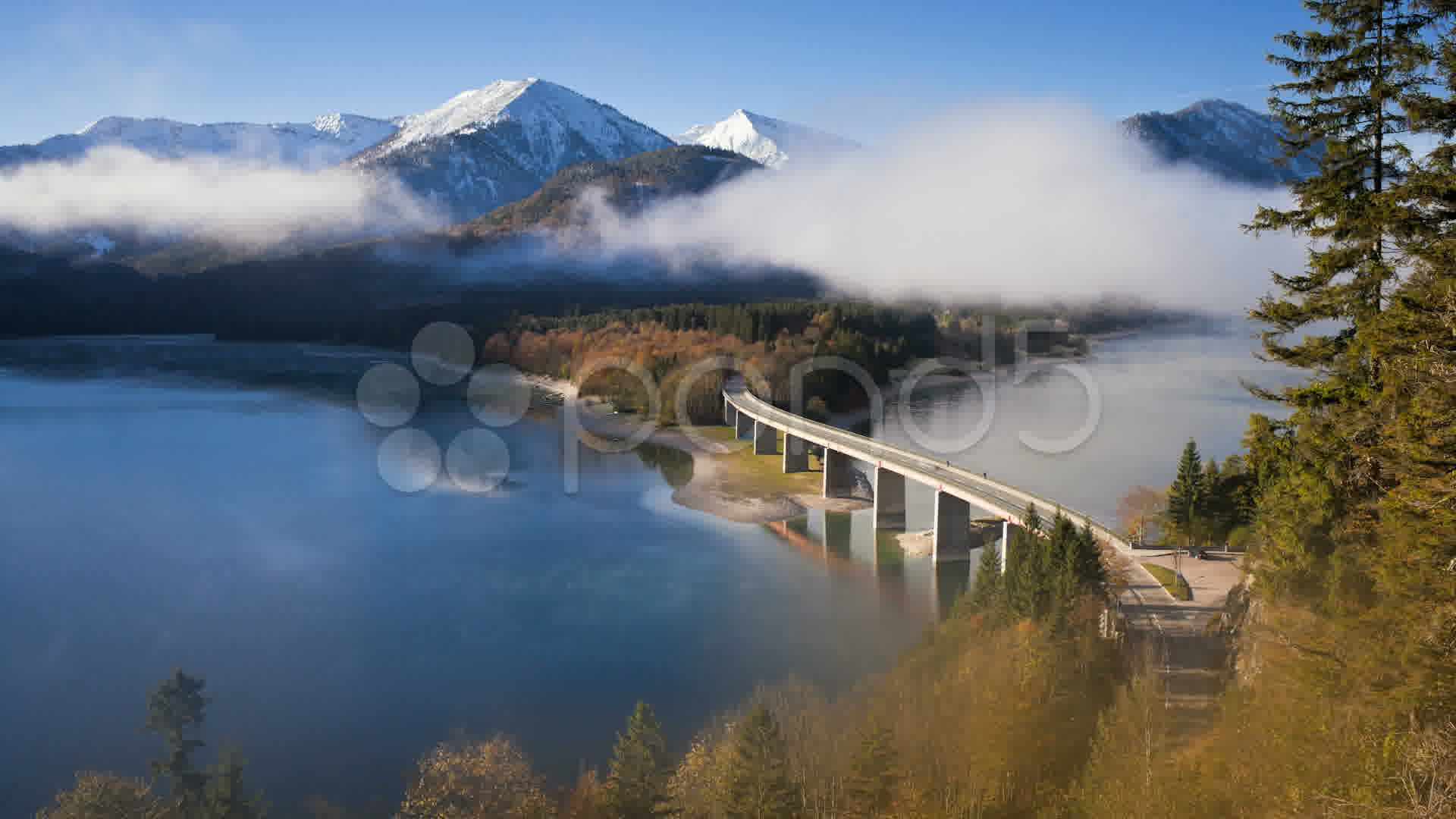 Germany Bavaria Sylvenstein Lake T L Stock Video